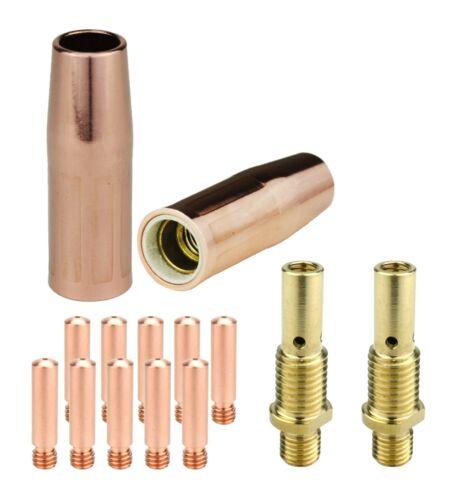 MIG Gun Parts for LIN 100L & Tweco Mini #1 - Diffusers + Tips + Nozzles