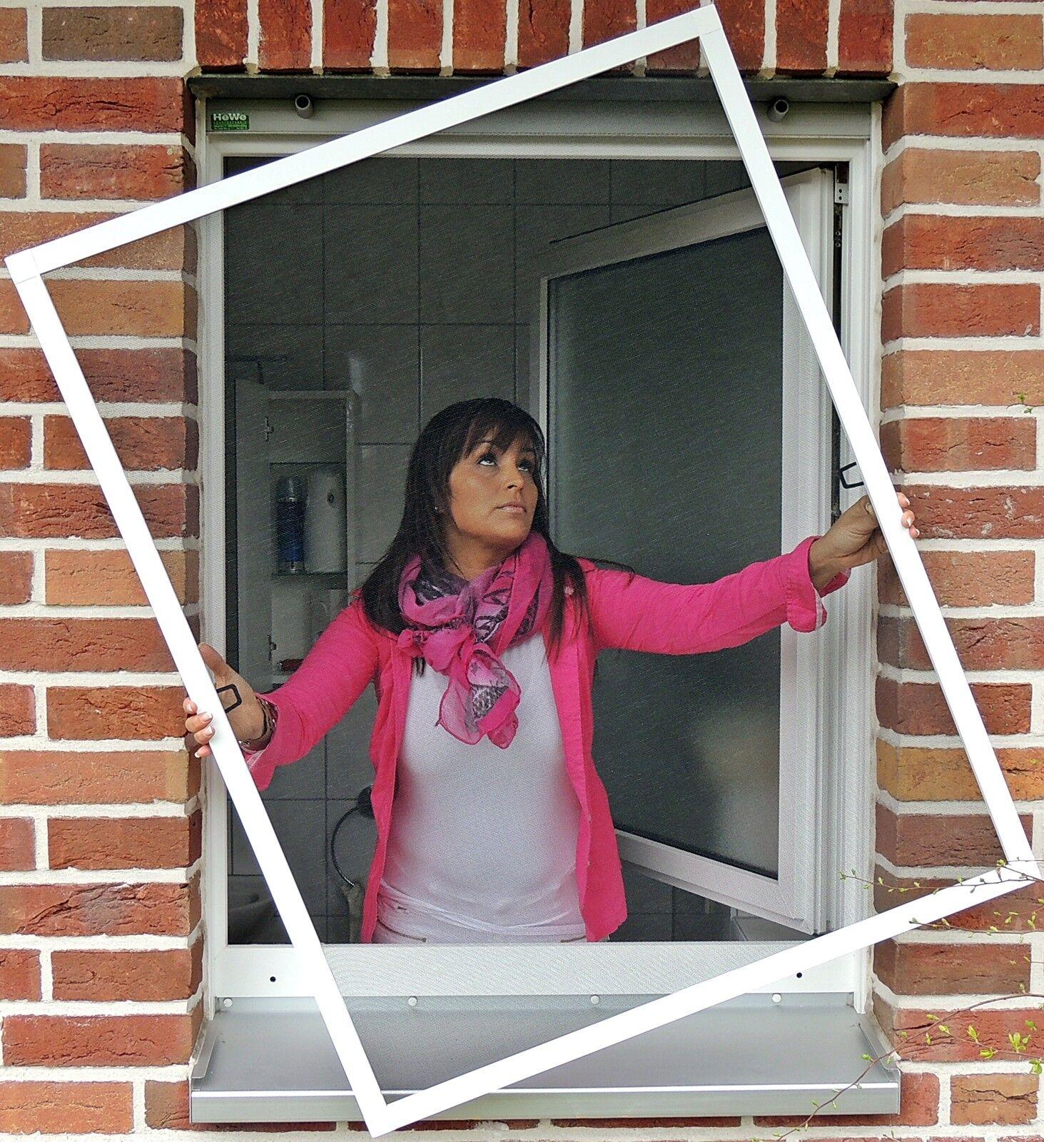 Insektenschutz Fliegengitter Fenster Alu Rahmen Mücken- Insekten- Gitter Bausatz