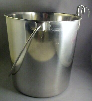 NEW Classic Products Stainless Steel 6 Quart Flat-Side Pail SPA-03FS 6 Quart Stainless Pail