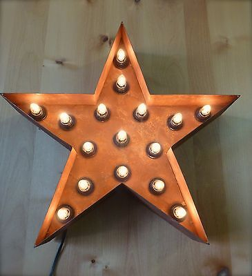 Large Vintage Style Light Up Marquee Star 23 Industrial Metal Sign Letter Barn