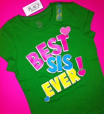 ~NEW~ BEST SISTER EVER COOL Big Little Graphic Shirts 4 4T 5-6 7-8 10-12 14