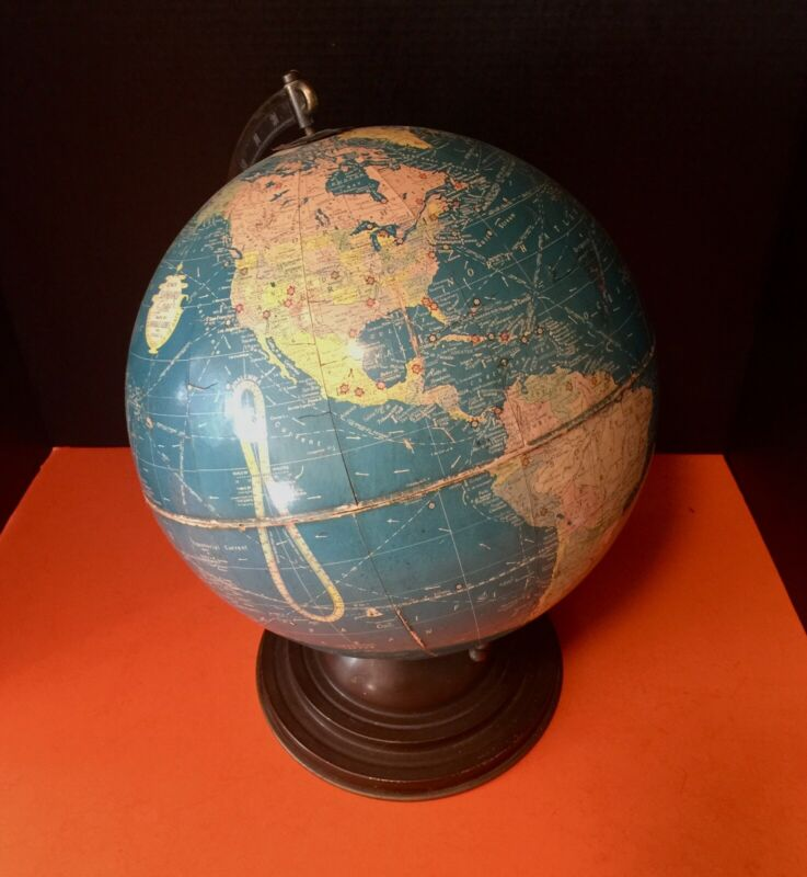 "A Cool Old Vintage Replogle 12"" Standard Globe 1930s Chicago"