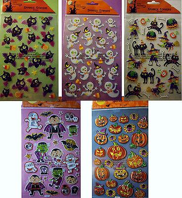 Happy Halloween Pumpkin Designs (NEW SPARKLE STICKERS HAPPY HALLOWEEN  * Your Choice Design * Witch Pumpkin)