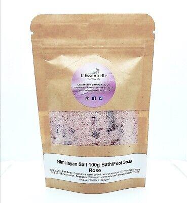 Himalayan Salt Bath Foot Soak Rose Petals And Rose Absolute Essential Oil 100g