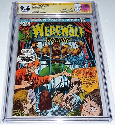 Werewolf by Night #6 CGC SS Signature Autograph STAN LEE Carnival of Fear Cover