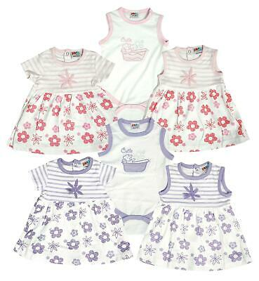 Girls Dress Top Summer 3 Piece Outfit Daisy Teddy Bear Bodysuit Set Newborn Baby - Teddy Bear Baby Outfit