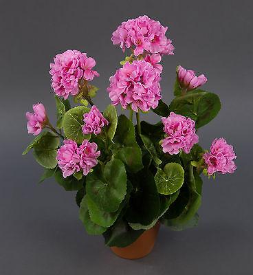 Geranie 36cm rosa -ohne Topf- LM künstliche Blume Kunstpflanzen Kunstblumen