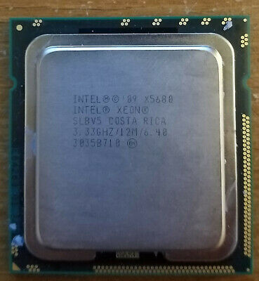 Intel Xeon X5680 CPU 6 Core 3.33GHz 12MB Cache LGA 1366 SLBV5 LGA1366 Socket B