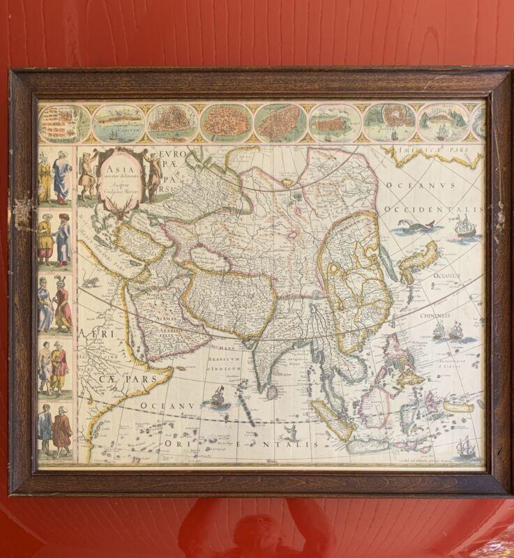 1800's Copy Of Asia Noviter Delineata 1635 by Willem Blaeu