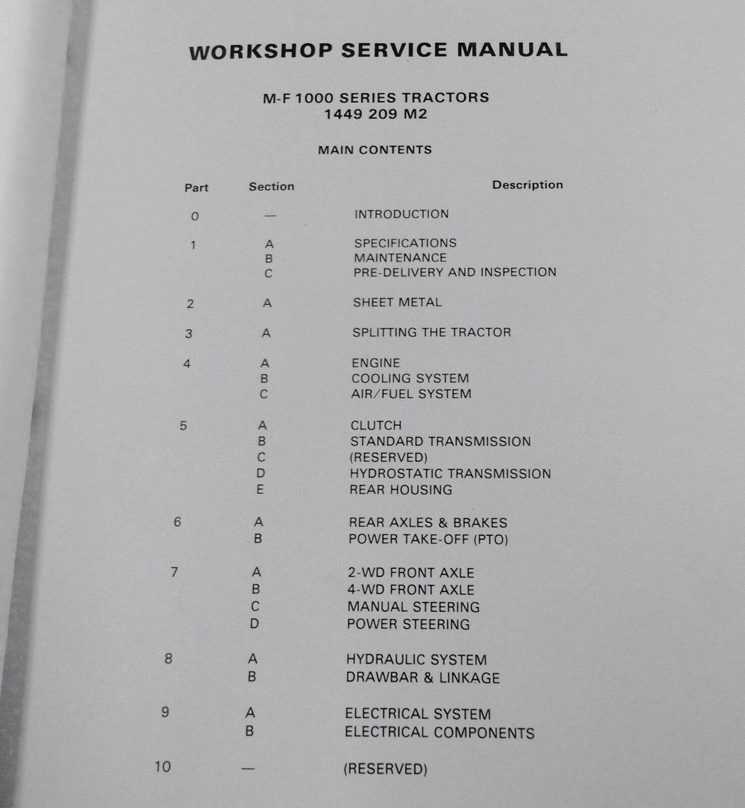 2 of 10 Massey Ferguson Mf1035 Mf1040 Mf1045 Tractor Service Repair Shop  Manual Workshop