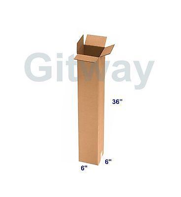 25 Pc 6x6x36 Tall Long Cardboard Shipping Golf Club Driver Pole Box Boxes 36x6x6
