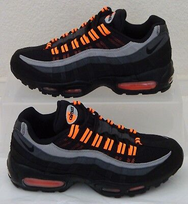 Vintage New Nike Air Max 95 Halloween Black Orange Mens US Size 7.5 UK 6.5 - Air Max 95 Halloween