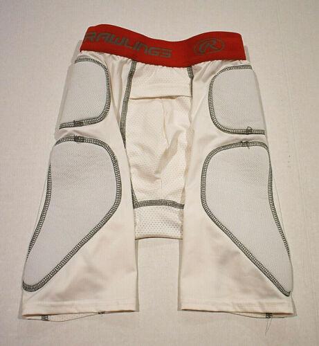 Rawlings Baseball Sliding Shorts, White, Men