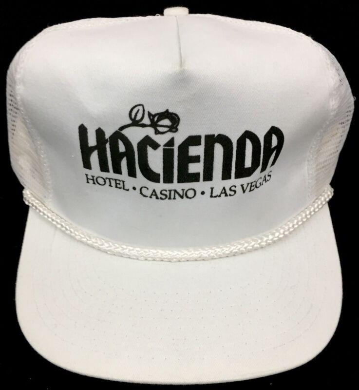Las Vegas Hacienda Hotel & Casino Vintage 1980s 🎰 Teamster Mobster Mesh Hat/Cap