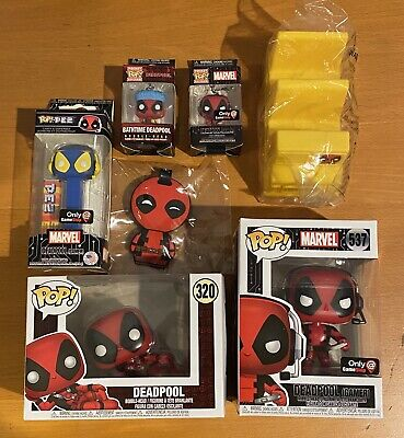 Marvel Deadpool Funko Pop GameStop Collector Corps Exclusive Lot