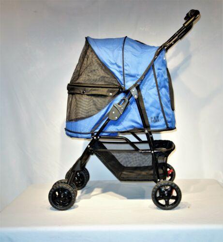 Pet Gear Happy Trails No-Zip Pet Stroller in Sky Blue
