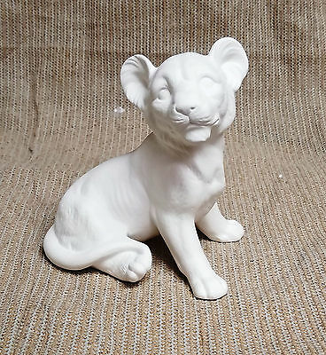Ceramic Bisque Lion Cub Texas Mold 641 U-Paint Ready To Paint ()