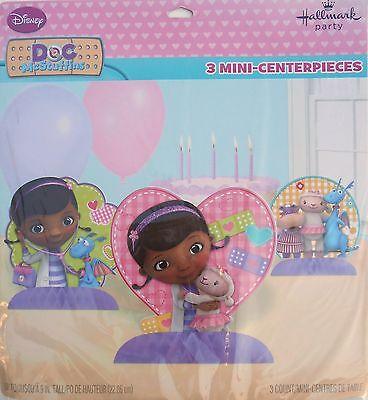 Party Centerpiece DISNEY DOC MCSTUFFINS Birthday Supplies 3 Piece Hallmark