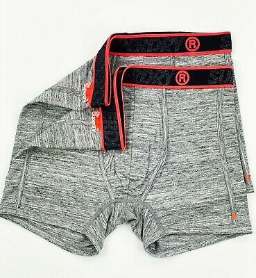 Superdry Flint Grey Grit Sport Boxer Double Pack