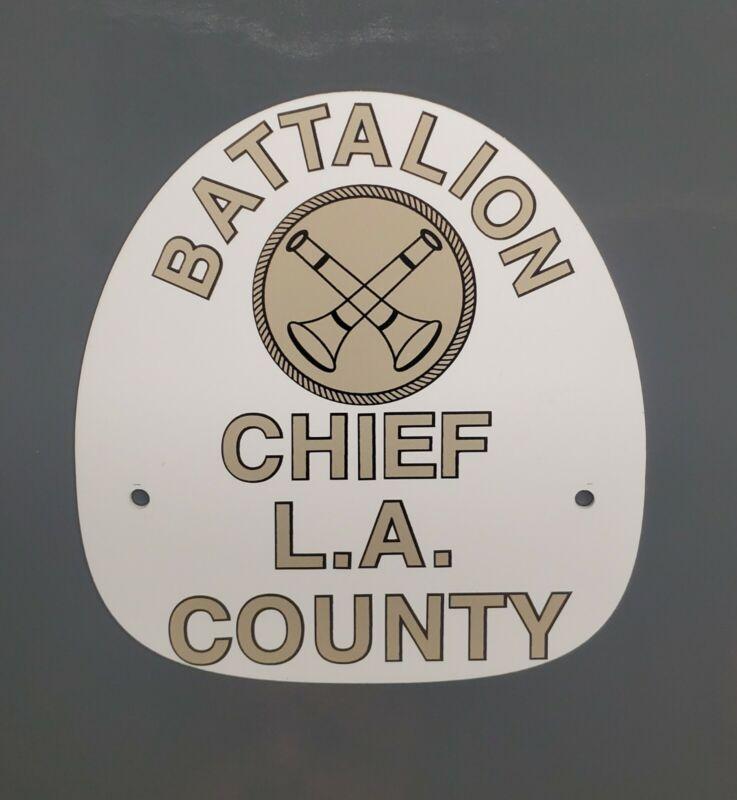 "LA COUNTY Battalion Chief ""EMERGENCY 51"" FIRE HELMET SHIELD"