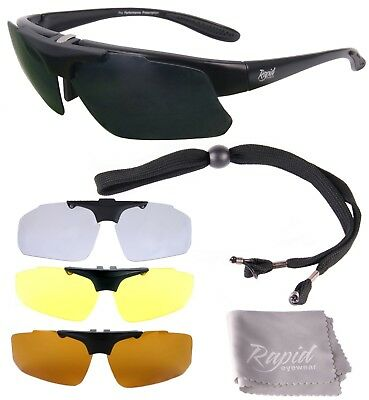 Rx PRESCRIPTION SPORTS SUNGLASSES: POLARIZED Mens/Womens: Interchangeable (Women's Sport Prescription Sunglasses)