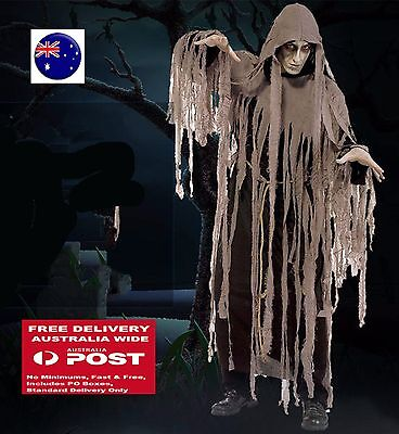 Super Scary Costumes (Man Adult Halloween Zombie Mummy Scary Horror Costume Tops Gown Cover)
