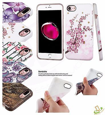 Design Rubber TPU Silicone Gel Flexible Skin Case Slim Cover For iPhone 8 7 Plus