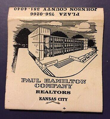 Vintage Matchbook Paul Hamilton Company Realtors Kansas City (Hamilton Party City)
