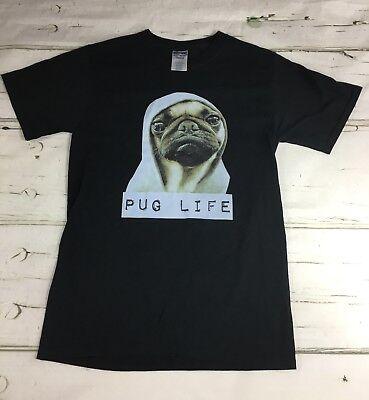Pug Life T Shirt Sz S - Funny Dog Tee - Thug Life EUC