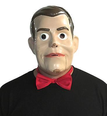 ADULT GOOSEBUMPS SLAPPY VENTRILOQUIST DOLL CREEPY FACE MASK & BOWTIE GC3825 (Creepy Face Mask)