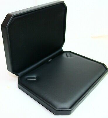 1  Large Necklace Box - Black Leatherette Finish in Black (Necklace Boxes)