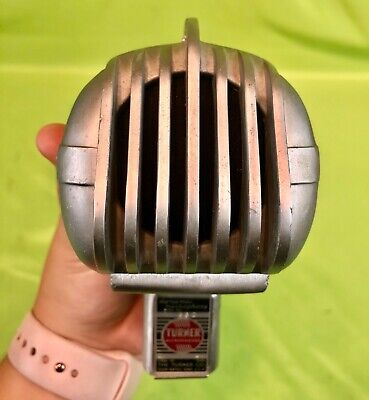 Nice Vintage Turner Dynamic Model 33D Art Deco Microphone