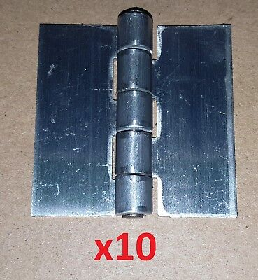 10 Pc Aluminum .075 Butt Hinge 2 x 2 Weld On/Door/Cabinet/Boat/Projects 1040