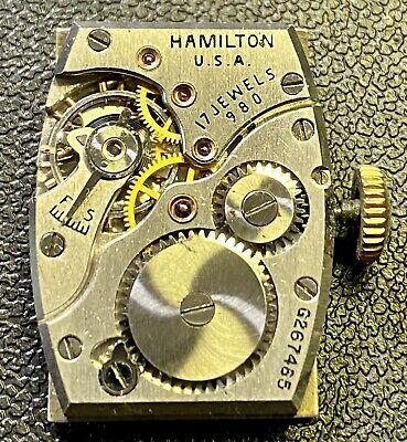 Hamilton Cal. 980  Wrist Watch Movement RUNNING