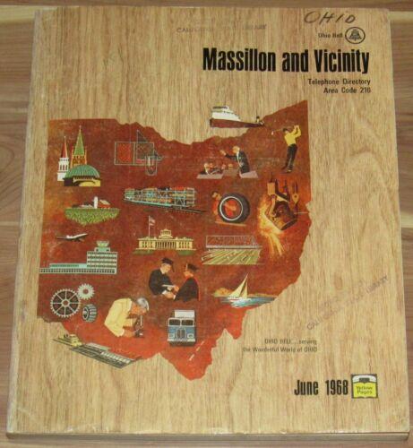1968 MASSILLON OHIO & VICINITY TELEPHONE DIRECTORY, AREA CODE 216