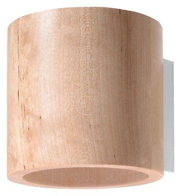 9 Naturholz (Naturholz ORBIS G9 Wandleuchte Wandlampe Einbauleuchte walze rund tube diele)