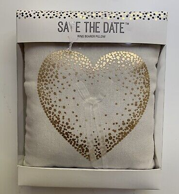 Save the Date Ring Bearer Pillow New