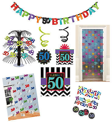50. Geburtstag Party Deko Raumdeko Dekospirale Tisch Dekoration schwarz weiß (50. Geburtstag Tischdekoration)