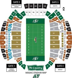 Pair of Awesome GOLD Seats to Riders Vs Als on Friday