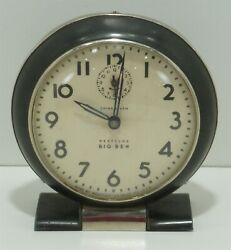 Vintage Westclox BIG BEN Wind-Up Chime Alarm Clock - WORKS GREAT