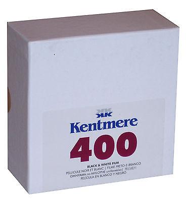 KENTMERE 400 ASA 35mm x 100 ft. BLACK AND WHITE NEGATIVE PRINT FILM