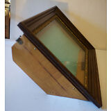 Antique LARGE Deep Wood & Glass Shadow Box Picture Frame Display / Vintage