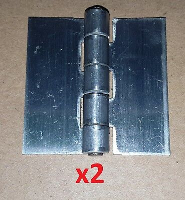 2 Pc Aluminum .075 Butt Hinge 2 x 2 Weld On/Door/Cabinet/Boat/Projects 1040