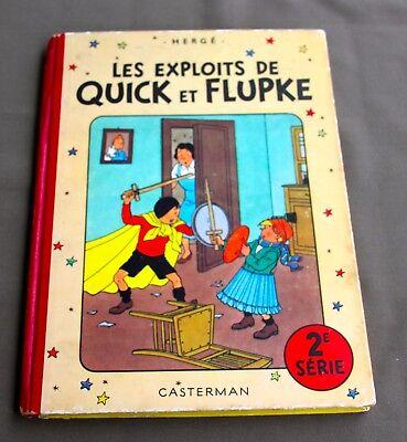HERGE - LES EXPLOITS DE  QUICK ET  FLUPKE  2E SERIE - 1952 - B7