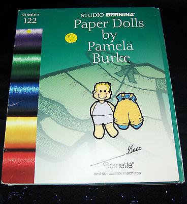 Bernina Embroidery Machine Card 122 - Paper Dolls by Pamel Burke,