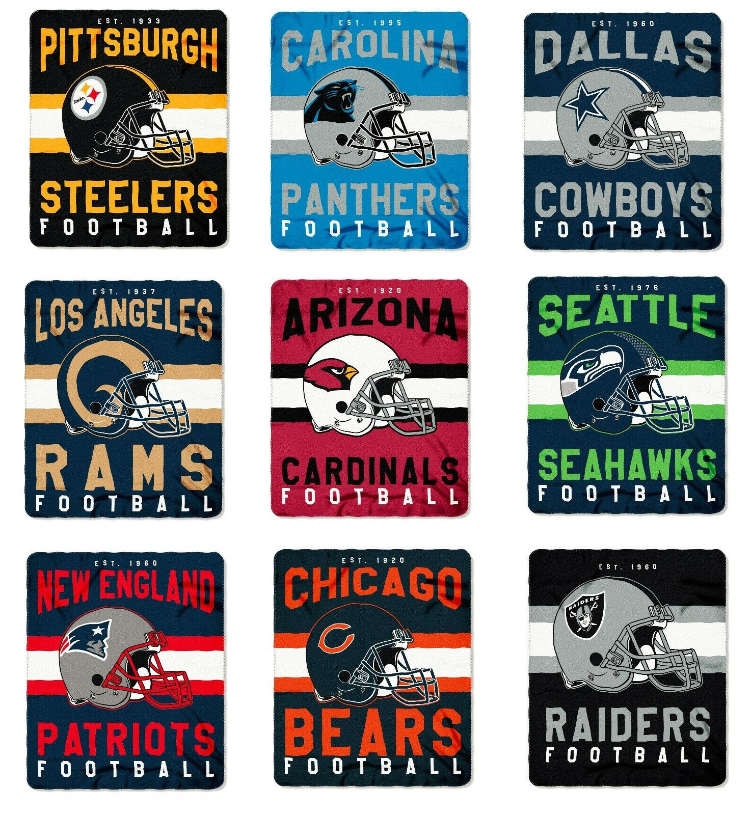 Купить Northwest - NFL Teams Singular Design Large Soft Fleece Throw Blanket 50 X 60