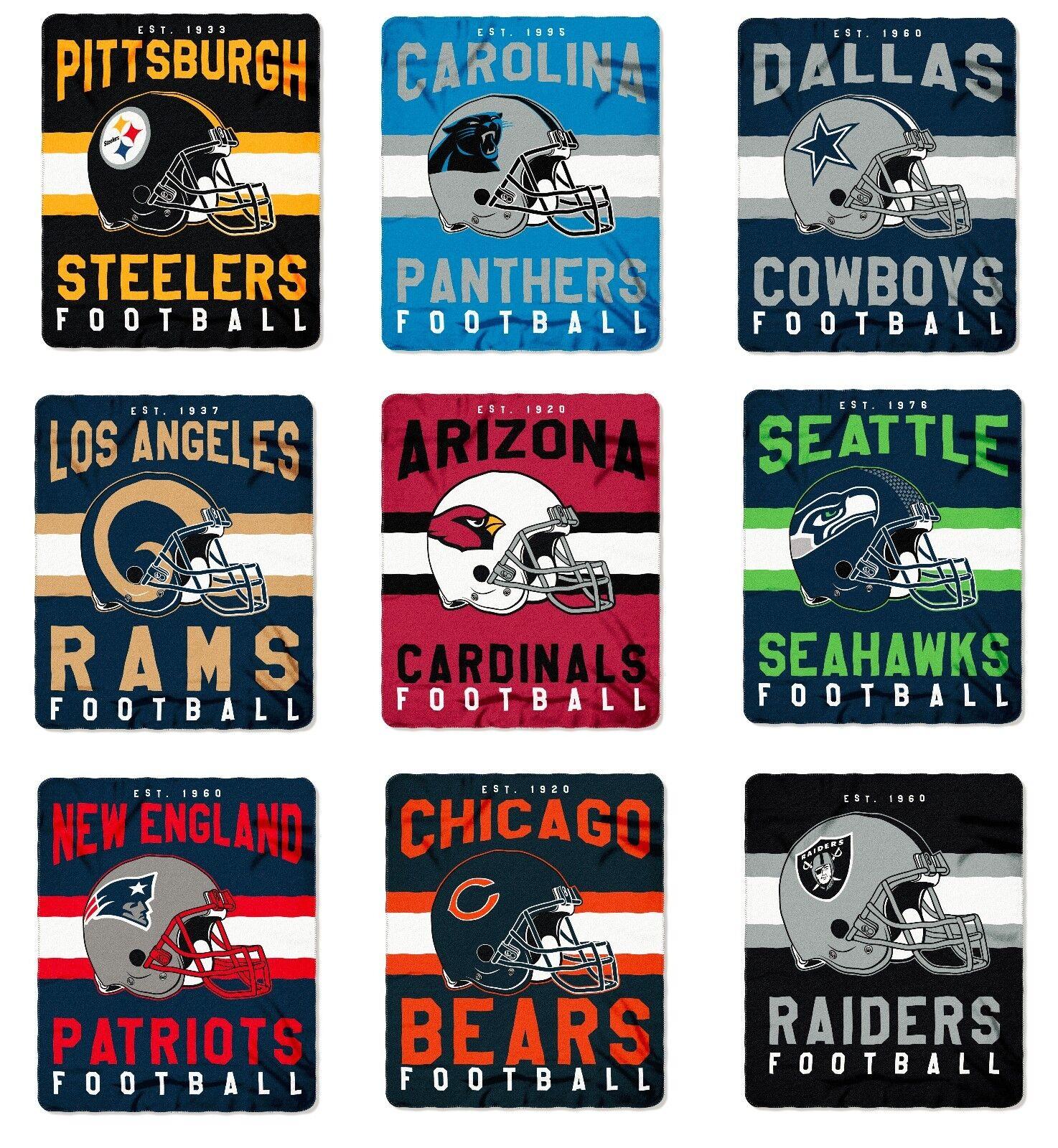 Купить Northwest - NFL Teams Singular Design Large Soft Fleece Throw Blanket 50 X 60