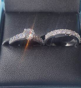18ct White Gold Diamond Engagement Wedding Ring Set RRP $6,999.00 Dianella Stirling Area Preview
