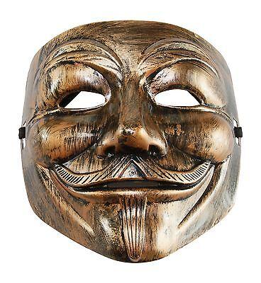 V for Vendetta Mask Fancy Bronze Anonymous Costume Mask