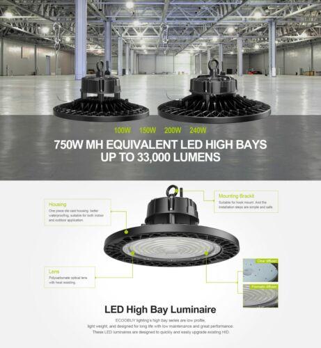 2 pack UFO LED HIGH BAY LIGHT (Round)    100W, 150W, 200W, 240W /5000K